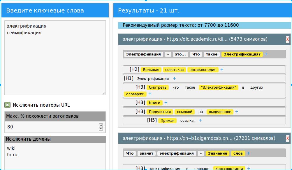 Пример составления ТЗ в Textmania
